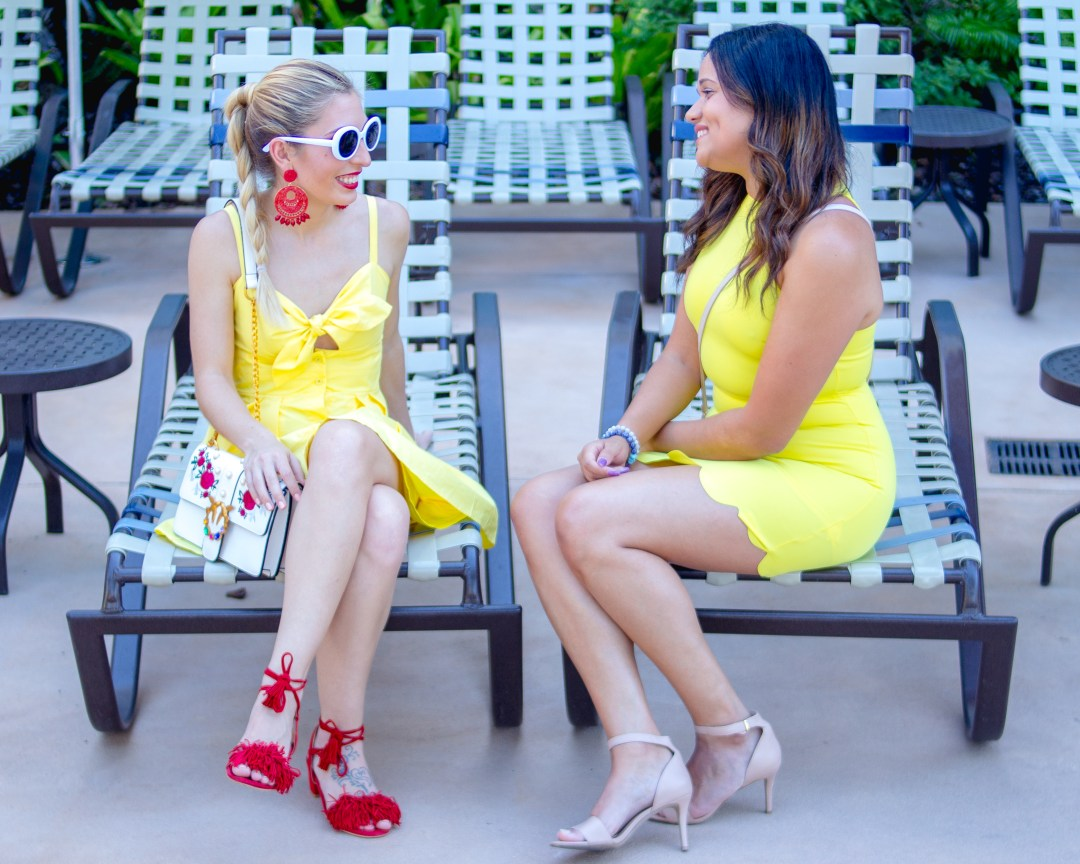 HOW TO STYLE A YELLOW DRESS