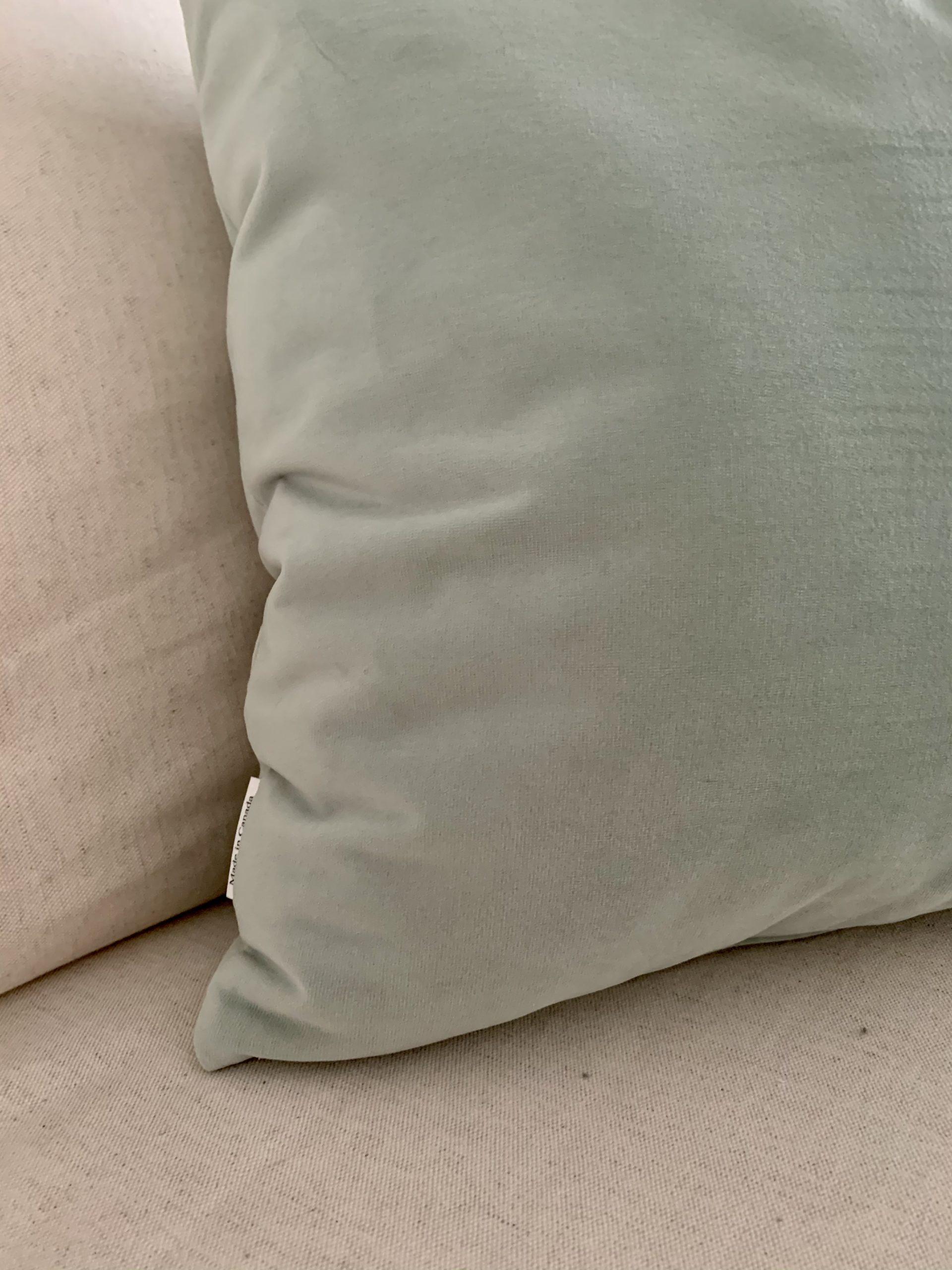ice green velvet pillow covers 16x16