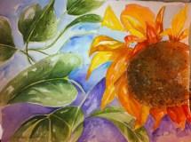 Sunny Side Up Original Watercolor $100 framed
