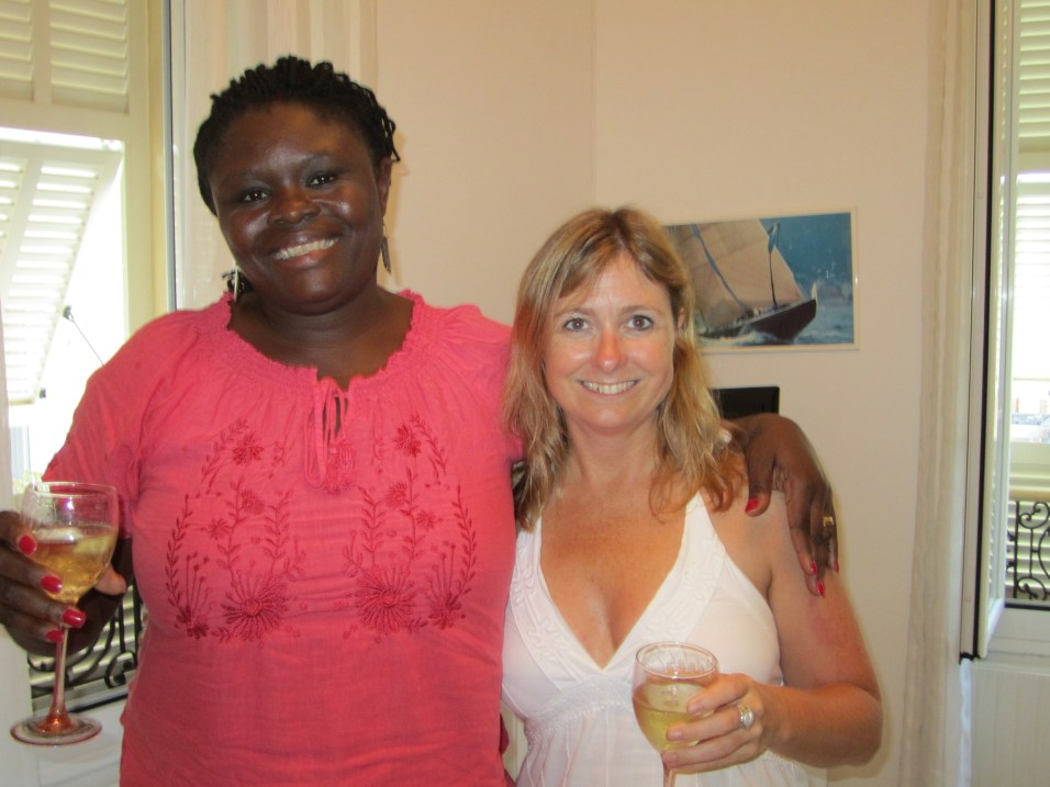 Farewell champers with Josephine, my roommate