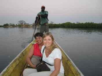Canoe ride into Senegal