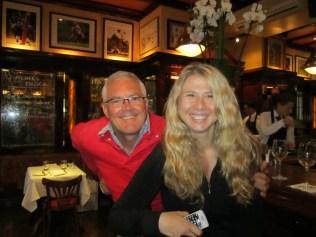 Peter and Marijana at the pub