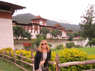 In front of the Paro Dzong