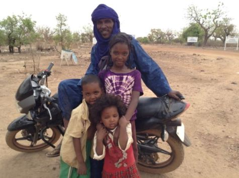 Amadou and his family at the UN Refugee Camp in Burkina Faso