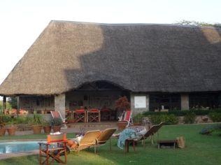 Safari lodge lounging