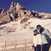 Skiing with Doro - my trusty skiing partner