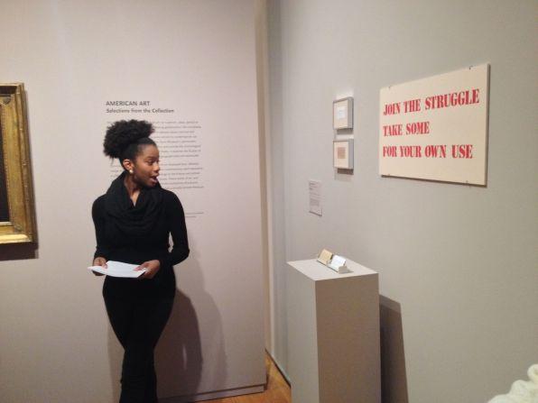 ARTH 316 Public Gallery Talks at the Davis Museum. Fall 2014. Photo by Nikki A. Greene