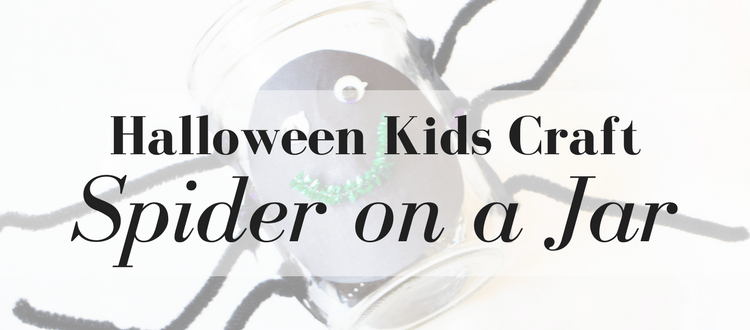 Halloween Kids Craft: Spider on a Jar