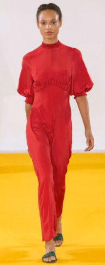 EMILIA WICKSTEAD The ruffle-sleeved jumpsuit gives a modern chic twist to the subtle ladylike formula.