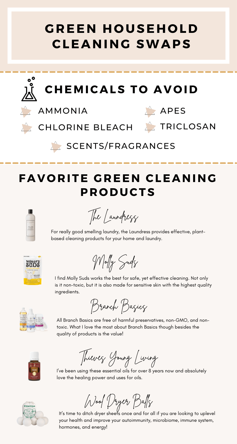 Chemicals to avoid and my favorite non-toxic household cleaning products