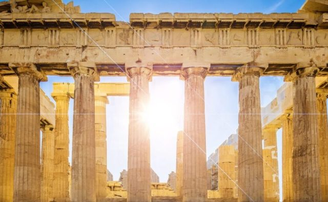 THE PARTHENON IS FULL OF LIGHT