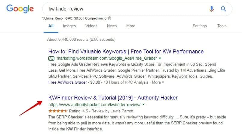 Copy the first result
