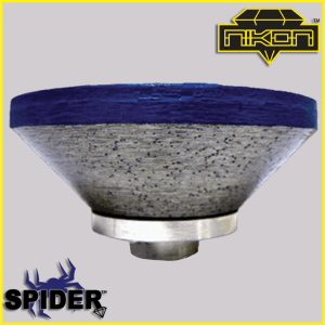 The Spider Beveled Profile Wheel for shaping granite, and other natural stones
