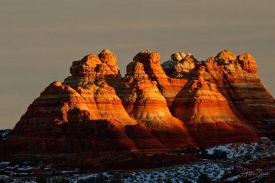 Sunset over the Teepees, Coyote Buttes North, Arizona Nikon D850, Nikon 70-200mm E Fl