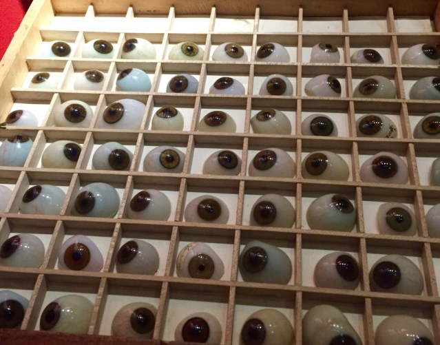 glass eyes