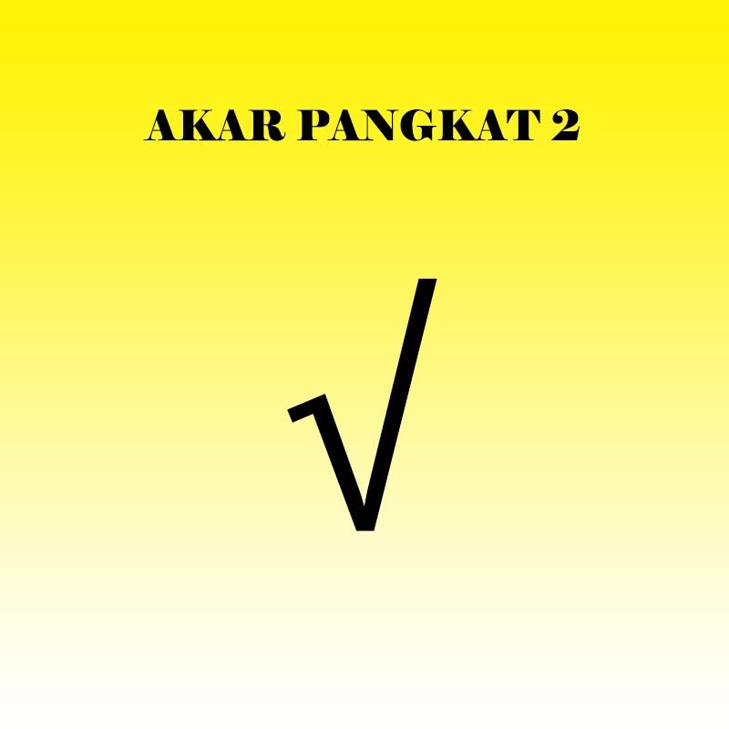 cover akar pangkat 2