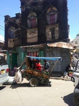 Obstwagen in Mombasa