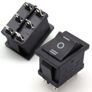 6 pin ON/OFF/ON Rocker Switch (Large)