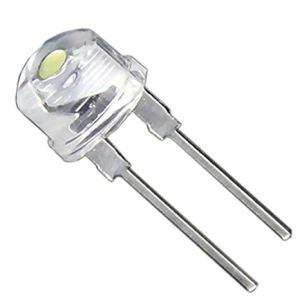 8mm Hat LED - Cool White (Torch Bulb)
