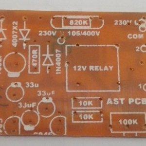 2Way Flasher Circuit PCB 230VAC