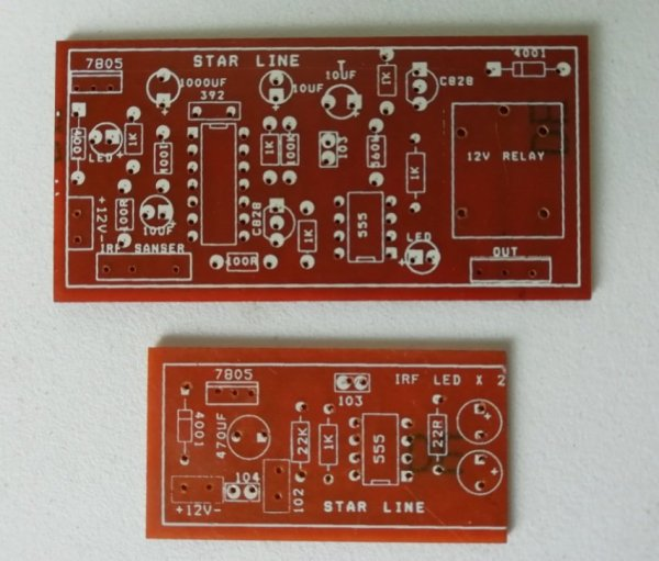 INFRA-RED Gate Alarm Circuit PCB