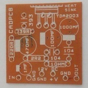 TDA 2003 10W Mono Amplifier (Small) PCB (12VDC)