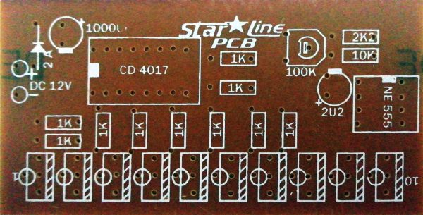 10 Channel Running Lights Driver PCB