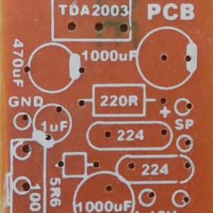 10W mono with Volume controller TDA 2003 12VDC
