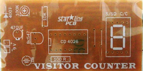 Visitor Counter 1 to 9 (1 Digit)