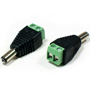 DC Jack male wire terminal connector
