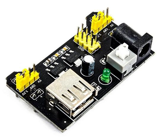 Breadboard Power Supply Module 3.3V/5V for Arduino Board Solderless Breadboard