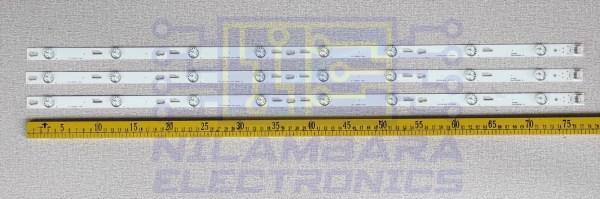 6V 8LED Back Light Strips 3Pcs Set (40D2730)