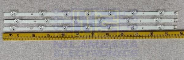 LG 3V BIG LENS Back Light Strips 3pcs Set (2x6LED Strip, 1x7LED Strip)