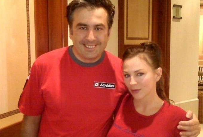 İşte Saakasvili ile olay yaratan fotoğrafları.