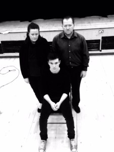 The Cast of 'Warrior 'line up at Broxburn High School in West Lothian