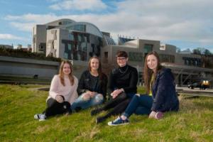 Cara met young women from right across Scotland