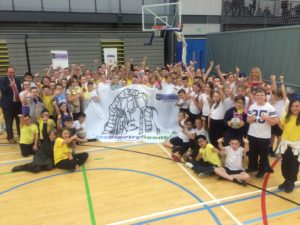 P7 Pupils from Uddingston challenged sectarianism by taking part in a joint sports day