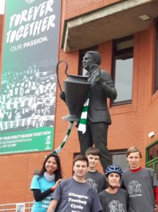 Máire and co catch their breath at Celtic Park