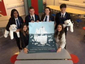 Renfrew High School pupils lend their support for the campaign