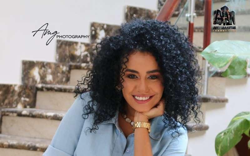 إصابة الفنانة المصرية نانسي صلاح في انفجار بيروت بسبب «اسود فاتح»
