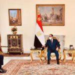 الرئيس السيسي يستقبل وزير الدفاع اليوناني