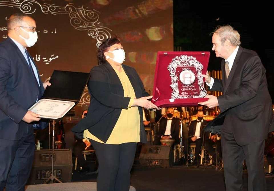 وزيرة الثقافة تكرم اسم مرسى جميل عزيز احتفالا بمئويته فى الاوبرا