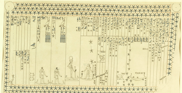 Astronomical ceiling from the tomb of Senenmut with the personified Sopdet at center (6)