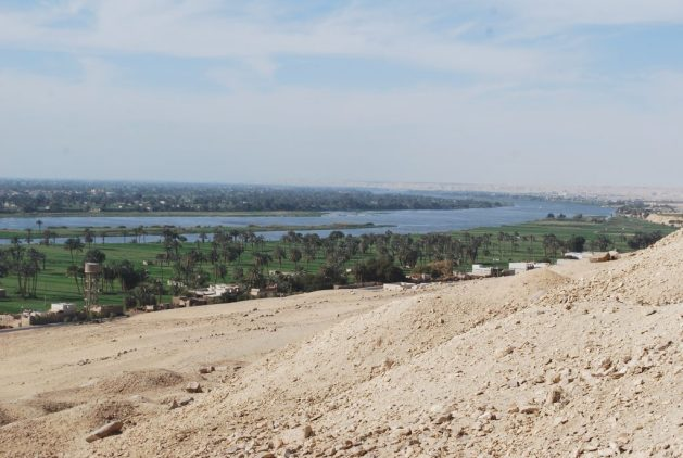 A view of the Nile from the tombs at Beni Hasan