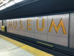 The outline of the station's names contains a hieroglyphic inscription