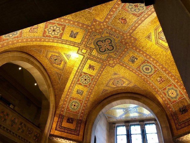 The ornate mosaic has been a ROM feature since 1933