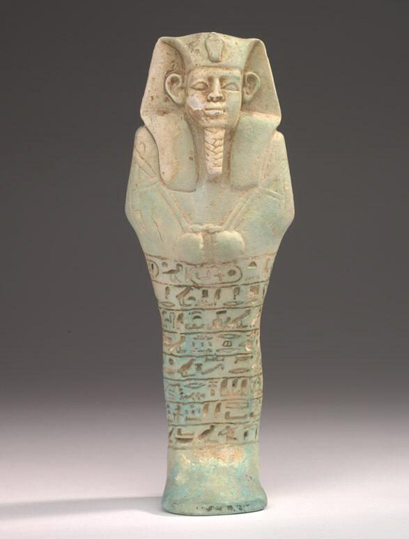 Figure 4: Faience shabti of King Anlamani (ROM Object            number: 926.15.6)