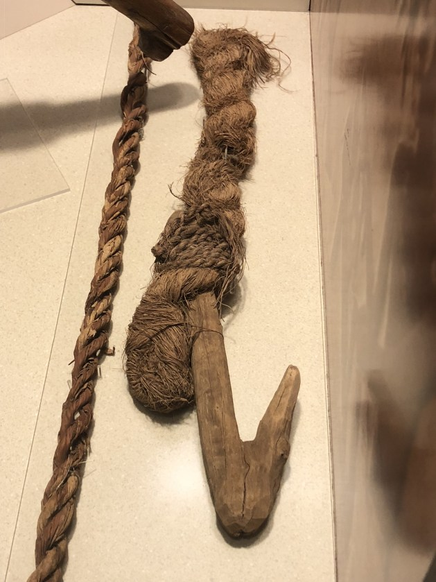 Wooden hook tied to a rope dating to the Ptolemaic Period (Acc. 4209-8)