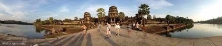 Exterior of Angkor Wat at sunset