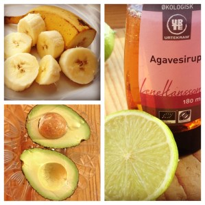 Avocado Banana Sorbet with Lime and Agave Syrup